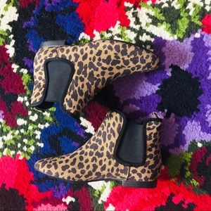 NWOB Old Navy Animal Print Booties